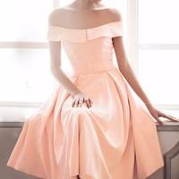 Đầm xòe trễ vai Pinky - 1355