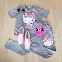 Đồ mặc nhà họa tiết mèo kitty cực dễ thương SEB230