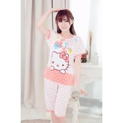 Đồ Bộ Nữ Mặc Ở Nhà Kitty Love Cam MS479
