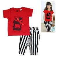 Bộ Hotgirl đính nơ màu đỏ cho bé gái HB125