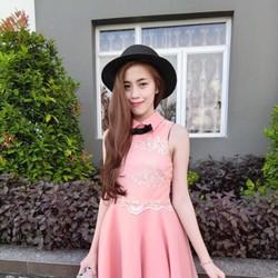 Đầm xòe phối ren cổ peter, hàng thiết kế cao cấp, fom chuẩn
