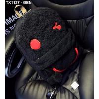 Balô lông hình mặt cười Mã: TX1127 - ĐEN