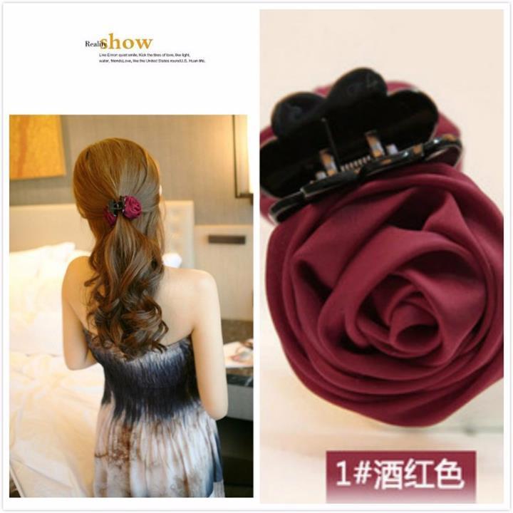Ms439 kẹp tóc hoa hồng xinh xắn 3