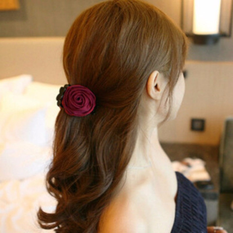 Ms439 kẹp tóc hoa hồng xinh xắn 2