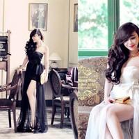 Đầm cúp ngực dài