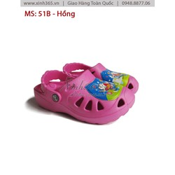 Giày Nhựa Trẻ Em - B51 - Màu Hồng