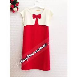 Đầm bầu thun phối áo lửng đính nơ BA242