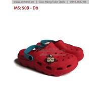 Giày Nhựa Trẻ Em - B50 - Màu Đỏ