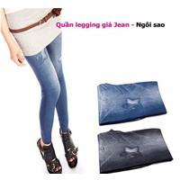 Quần Legging Giả Jean Ngôi Sao - MS398