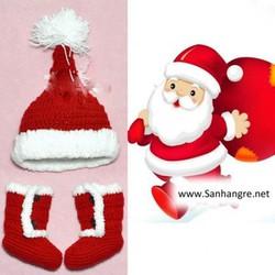 Bộ Mũ Tất Len Quà Tặng Noel Cho Bé