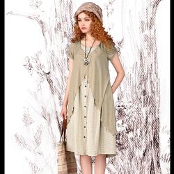 Đầm suông xám phong cách búp bê oversize