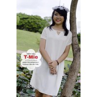 Đầm bầu công sở Hàn Quốc, chất liệu mùa hè