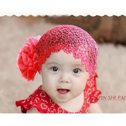 Băng đô lưới bông 1 bên hoa dành cho bé