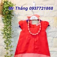Áo đầm xô gân mát mềm cho bé - kèm dây chuỗi đeo cho bé từ 1-8 tuổi