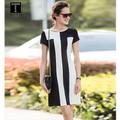 Đầm Suông Black And White
