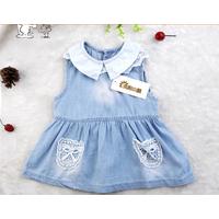 Đầm jean phối ren