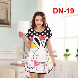 Đầm ngủ hoạt hình Thỏ sweet DN-19