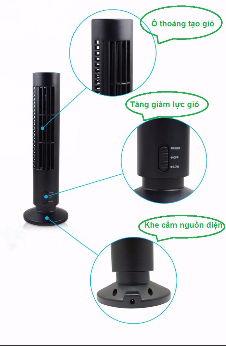 Quạt tháp Mini USB Tower Fan 2