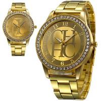 Đồng hồ nữ MK đính đá mặt chữ sang trọng cho phái đẹp chống nước