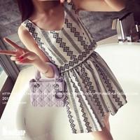 FreeShip TPHCM - Set bộ áo + váy hoa văn - 8528 - Hàng Nhập