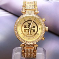 Đồng hồ đính đá xi vang,cách mạnh mẽ hiện đại dành cho nam và nữ-283