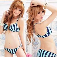 Bikini,đồ bơi sọc phối màu, lưng dây chéo quyến rũ,gợi cảm-DB123