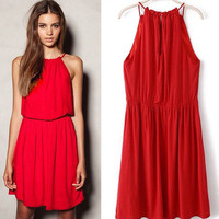 Đầm cổ yếm Rosy