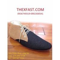 Giày Boot Da Đen Dá Nhung Nâu BD04