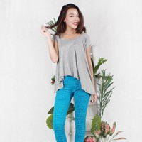 Hằng Jeans - Set áo dáng freesize AONU229-06 và Skinny jeans 800-06