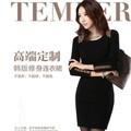 Đầm nhung dày tay thích hợp vào mùa thu và mùa đông ở Hàn Quốc