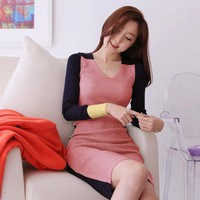 Đầm body tay dài thích hợp vào những ngày trời se lạnh.