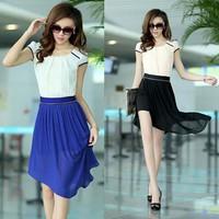 Đầm voan 2in1:có thể mặt được 2 kiểu váy ôm body và váy xòe vạt xéo