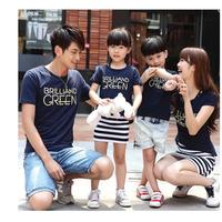 Đồng phục gia đình có đầm áo thun in GREEN mẹ và bé SHOPTHAOKIM