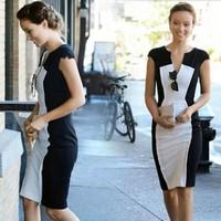 Đầm body đen trắng trẻ trung cho nàng thêm nổi bật mỗi lần xuống phố