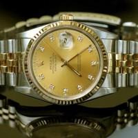 đồng hồ chống nước,chống rỉ Rolex nam các số thay bằng viên đá nhỏ