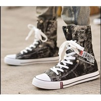 Giày nam bata jean cổ lật fashion