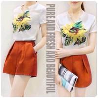 HÀNG NHẬP CAO CẤP - Sét áo voan họa + quần short