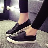 Giày lười nữ đen A6894
