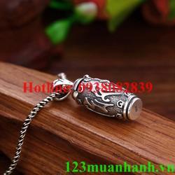 Mặt dây chuyền khắc thần chú Om Mani Padme Hum