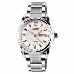 Đồng hồ nam SKMEI trắng, mảnh ngày thứ SK034