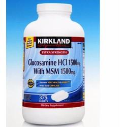 Glucosamine Kirkland HCI 1500MG và  MSM 1500mg - Viên bổ khớp từ Mỹ