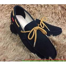 Giày mọi nam công sở da lộn thắt nơ phong cách sành điệu GDNHK87