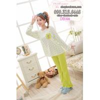 Đồ bộ dài mặc nhà thun cotton hàng quảng châu - DB306