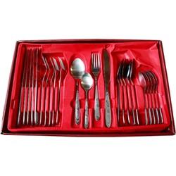 Bộ dao muỗng nĩa Data 24 món: 6 muỗng nhỏ,6 muỗng lớn,6 nĩa,6 dao
