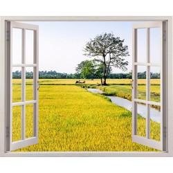 Tranh dán tường cửa sổ 3D CS-0088