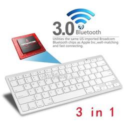 Bàn Phím Bluetooth Không Dây BK3001 - Dùng Máy tính bảng, iPad, Laptop
