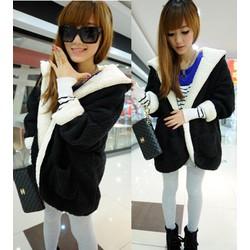 Áo khoác lông dạ mặc 2 kiểu có túi 2 bên ấm áp,cá tính-AK619
