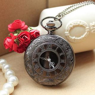 Đồng hồ quả quýt Đen mặt chữ số La Mã - QQ La Mã Đen thumbnail