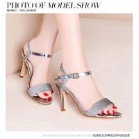HÀNG CAO CẤP CHẤT NGOẠI NHẬP - Giày cao gót sandal kim tuyến