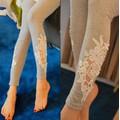 Quần bầu legging nữ phối hoa ren nữ tính, phong cách Hàn Quốc-Q233